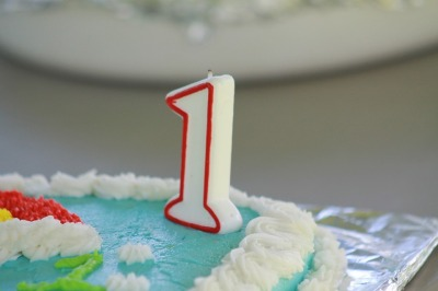 1 Year Candle Birthday Cake
